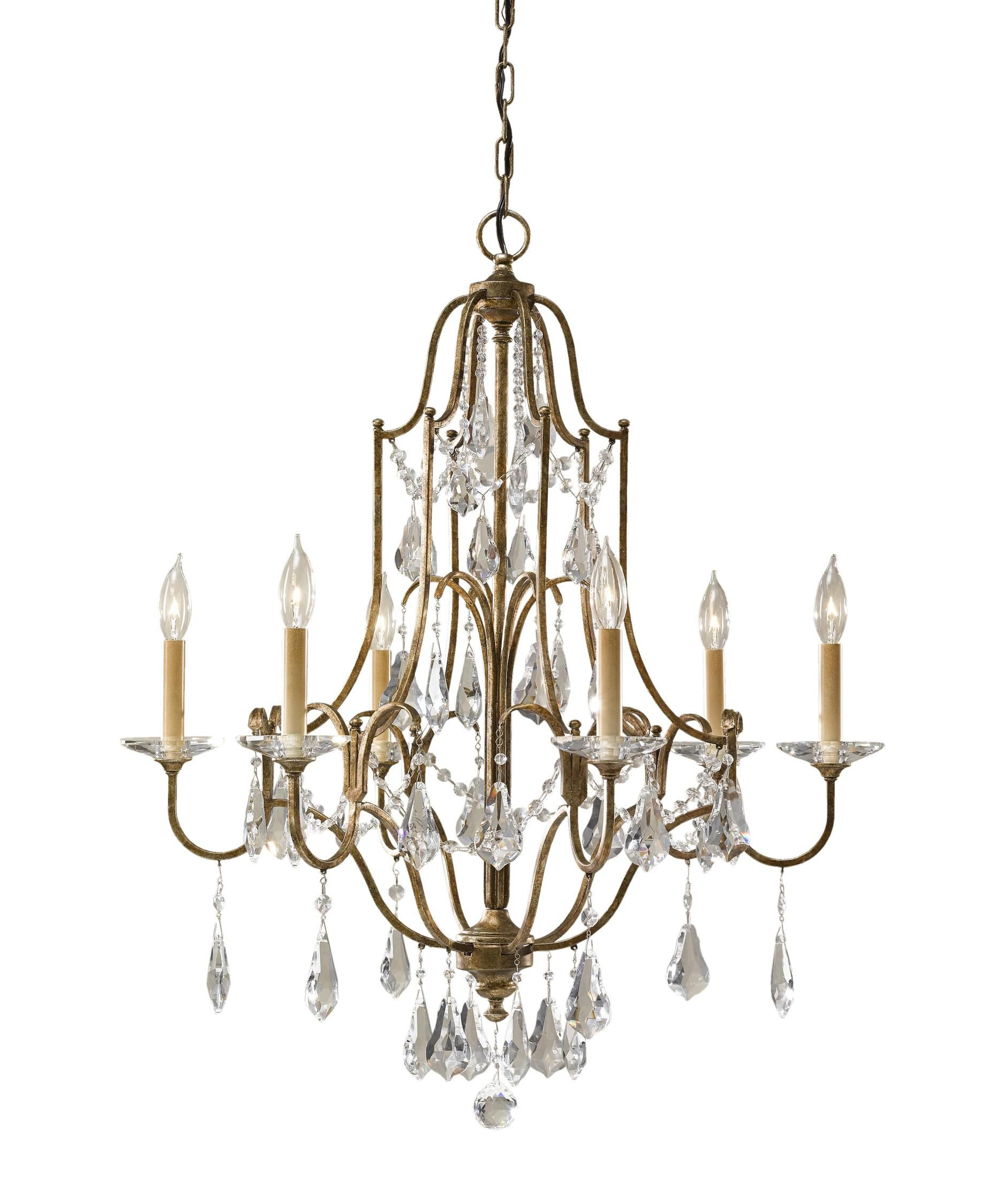 Murray Feiss Valentina 29 Inch Wide 6 Light Chandelier Capitol Lighting 1 800lighting Com