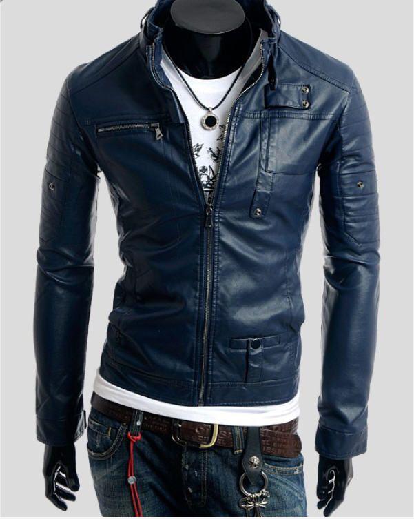 62a962a30f55e CHAQUETA DE CUERO AZUL  chaqueta  chaquetadecuero  cuero