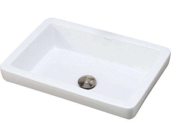 Classically Redefined Ambre Ceramic Rectangular Vessel Bathroom Sink