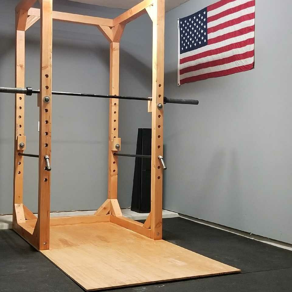 Diy Wood Power Rack 4 X4 Power Rack Fitnessstudio Zu Hause