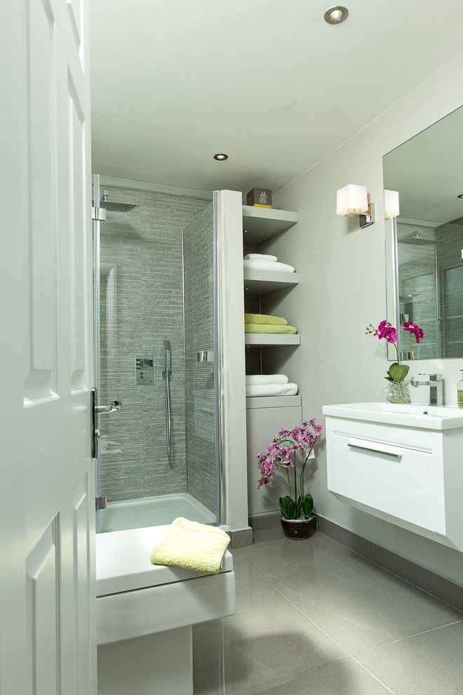 storage solution for small bathroom shelves flowers mirror ...