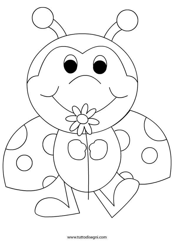 Ladybug Coloring Page Kifestők Malen Nach Zahlen
