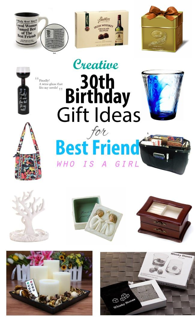 Creative 30th Birthday Gift Ideas For Female Best Friend Creative Birthday Gifts Gifts For Female Friends 30th Birthday Presents