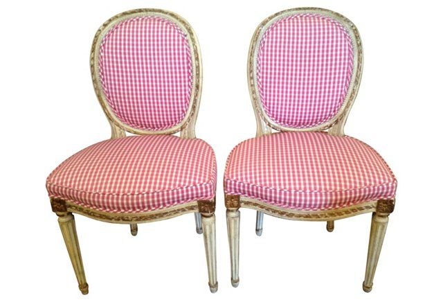 French Side Chairs, Pair | chairs | Pinterest | Side chair, Living ...