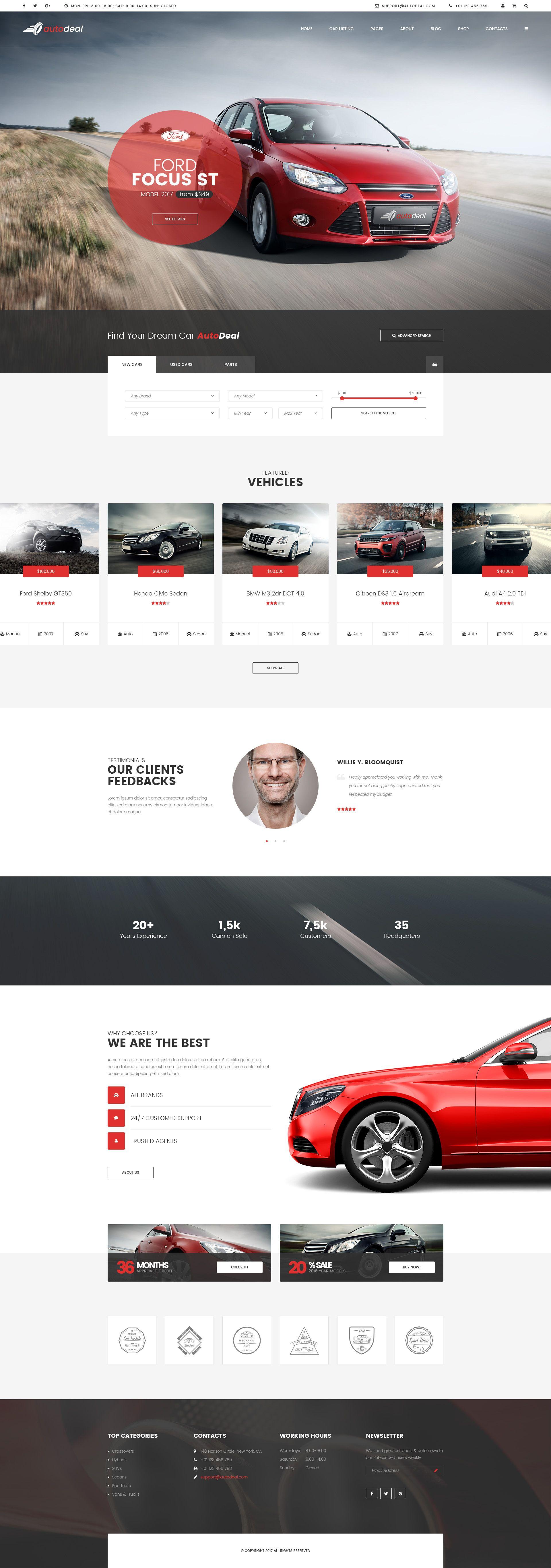 AutoDeal - Car Retail PSD template   Vivir
