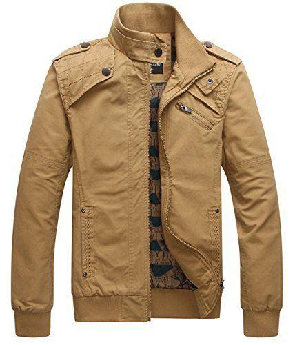 chouyatou Mens Sportswear Full Zip Sherpa Lined Military Outerwear Bomber Jacket
