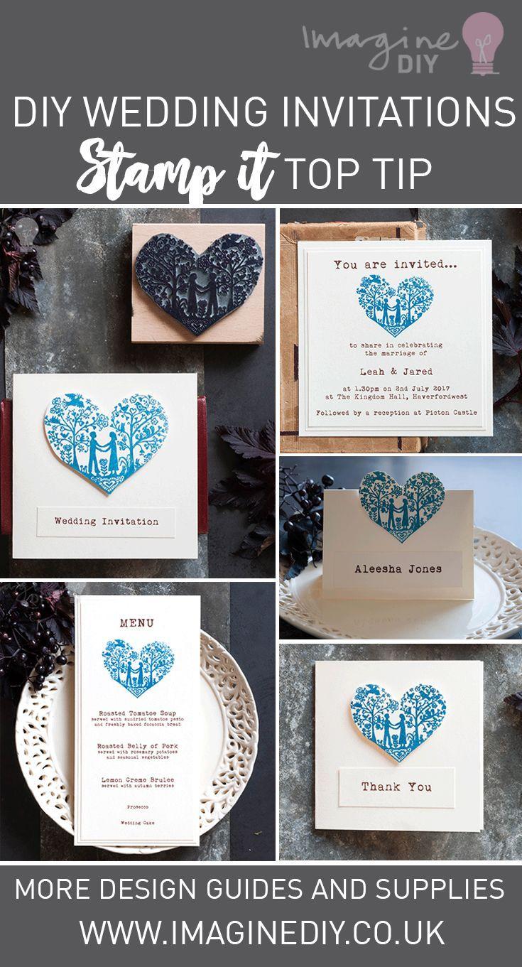 Stamp It Top Tip Be Inspired By Imagine Diy Wedding Ideas Diy