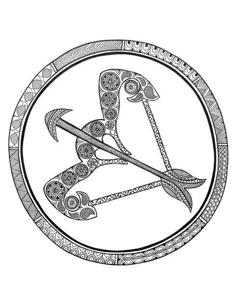 Zodiac Sign Sagittarius By Neeti Goswami F Dibujos 01