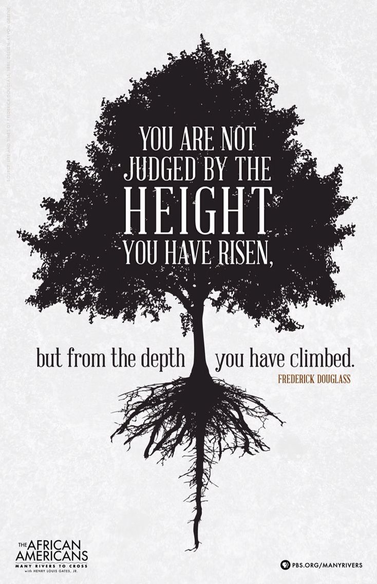 You are judged from the depth you have climbed