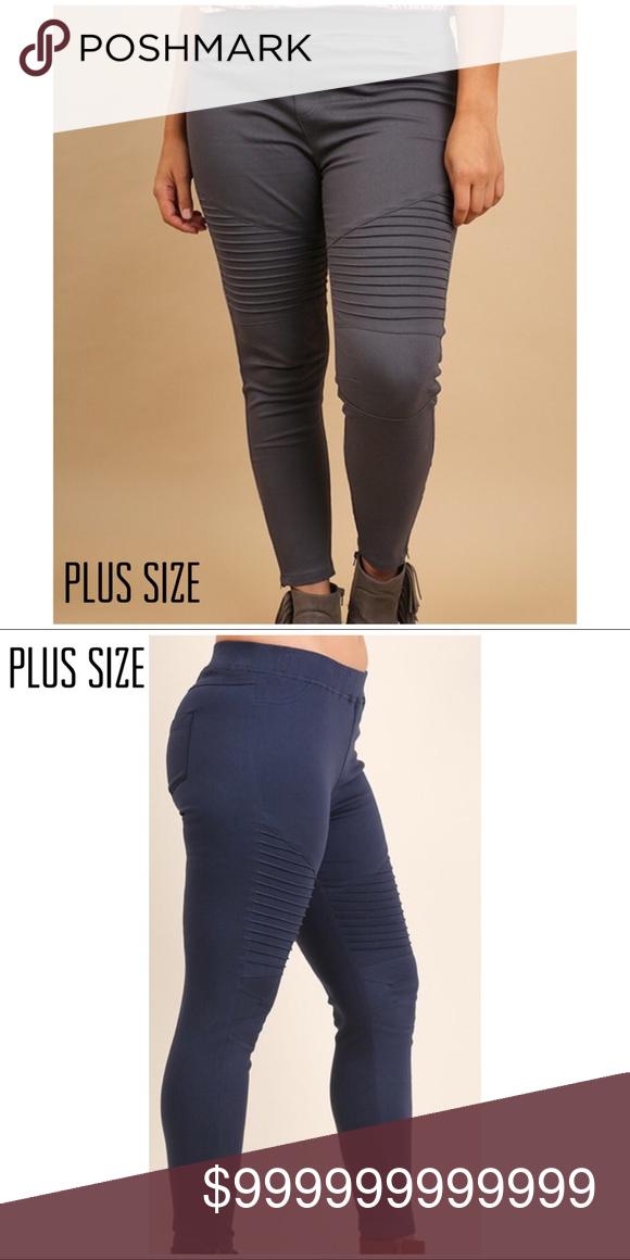 fc0a4f902e9120 Plus Size Umgee Side Zip Moto Jegging Umgee Plus Size Charcoal Side Zip  Moto Jeggings. Super Stretchy Skinny Moto Jegging with Bottom Zipper Detail.