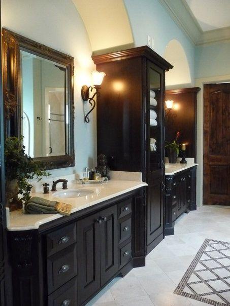 Luxury Dark Brown Bathroom Cabinets