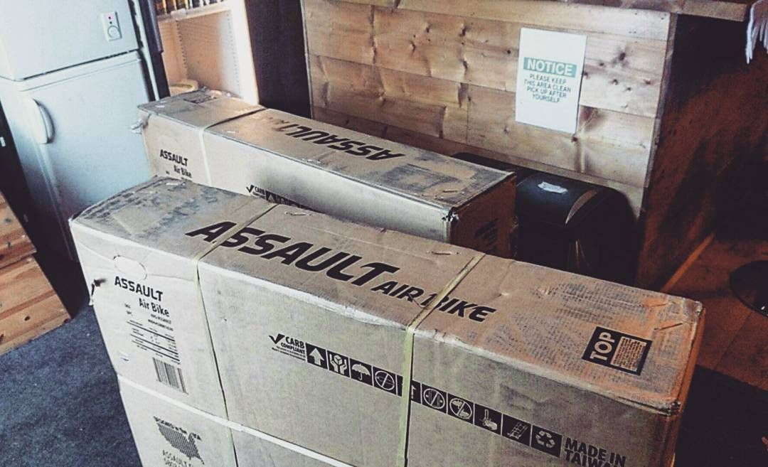 There's no delivery quite like a new Assault Bike delivery  #assaultbikes #teamcsp #reinvesting #upgrading #bettereveryday #gym #bray #wicklow