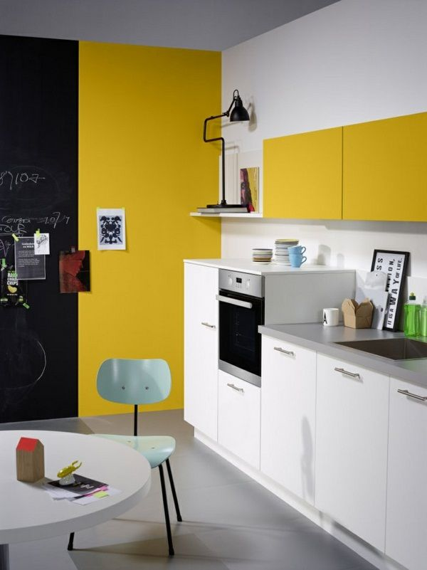 Nolte kitchens white kitchen equipment yellow accent wall | http ...