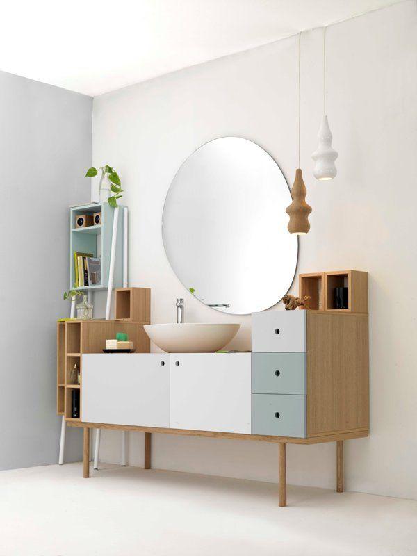 Oak vanity unit COLLAGE VANITY UNIT - @extdesign