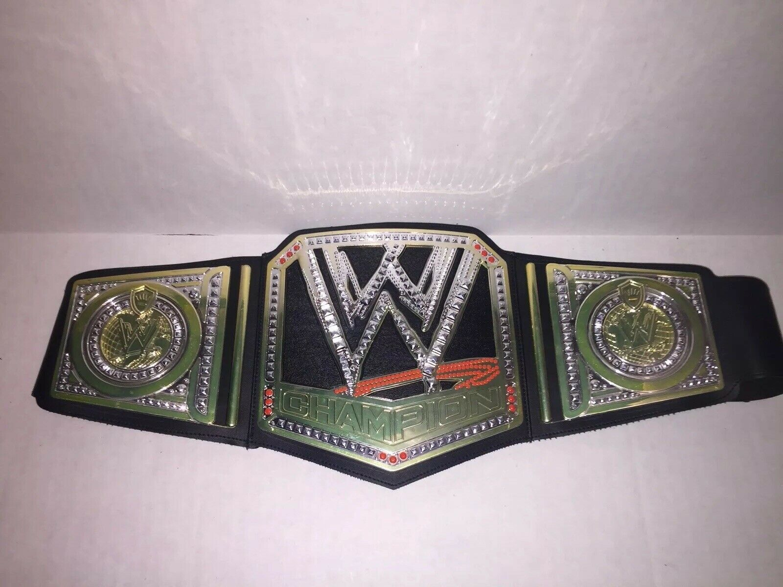 """old Heavyweight Championship Belt Hanger 5/"""" Real Leather WWE NXT"""