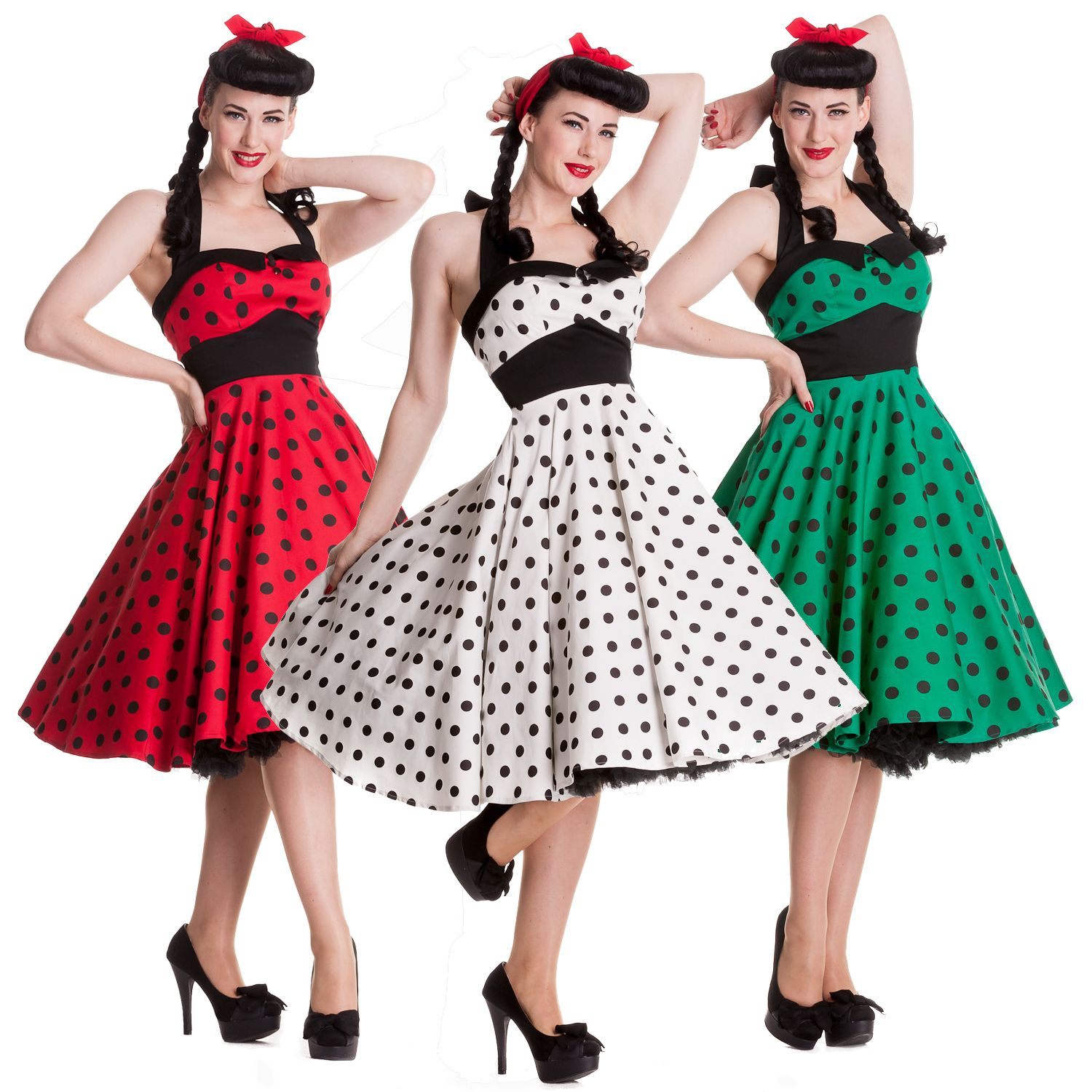 Hell Bunny Adelaide Polka Dot Retro Rockabilly Vintage 50s Party ...