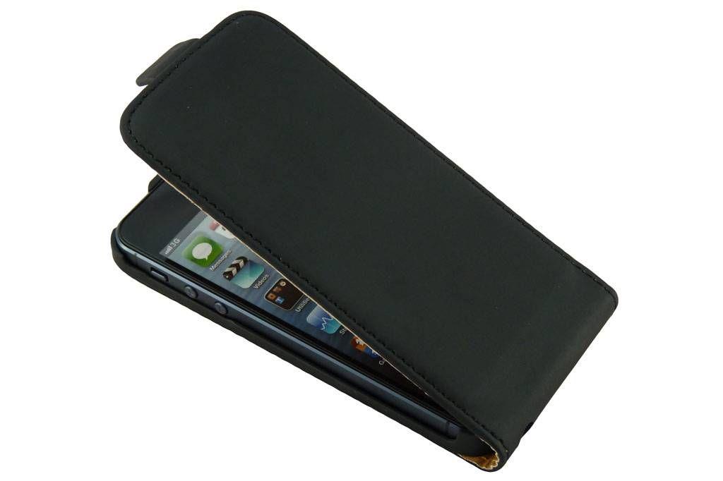 Flip Case voor de Apple iPhone 5 Zwart
