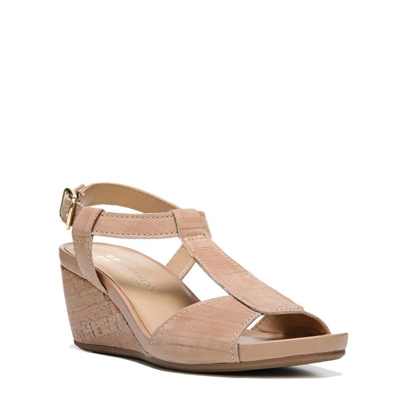 0158cf763b49 Naturalizer Women s Camilla Narrow Medium Wide Wedge Sandals (Gingersnap  Leather) - 8.5 W