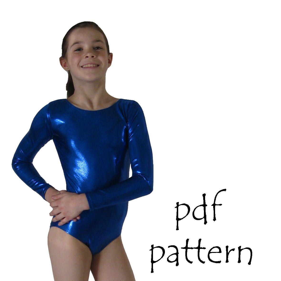 Leotards 2 pdf sewing pattern gymnastics gym dance jazz ballet | Mädchen