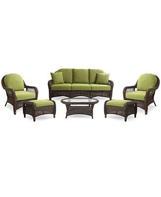 windemere outdoor patio furniture 6 piece seating set 1 sofa 2