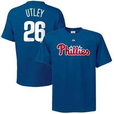 brand new 46ee1 897ea Majestic Philadelphia Phillies #26 Chase Utley Royal Blue ...