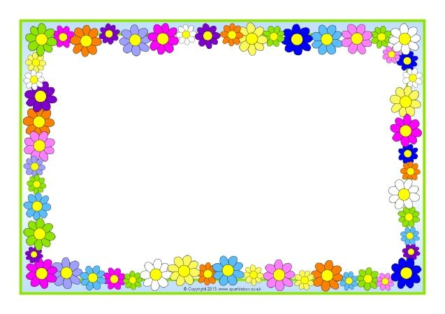 Flowers A4 Page Borders (SB10393)   SparkleBox  Microsoft Word Page Border Templates