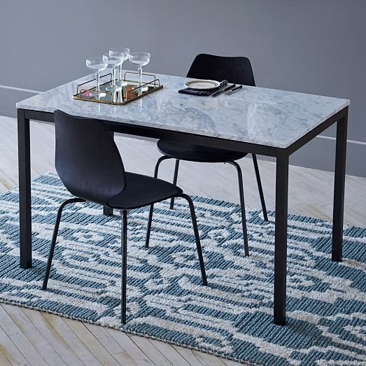Box Frame Dining Table Marble west elm Furniture
