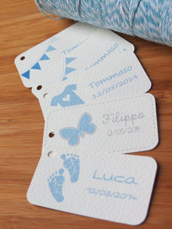 15 Bigliettini Per Bomboniere Nascita Battesimo Di Paperartitalia 3 50 Baby Stickers Paper Lovers Paper Decorations