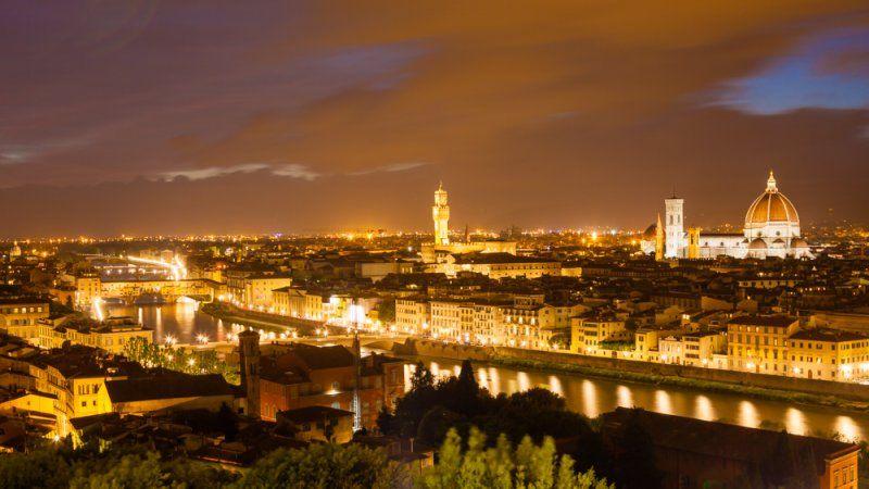 Florence at night light