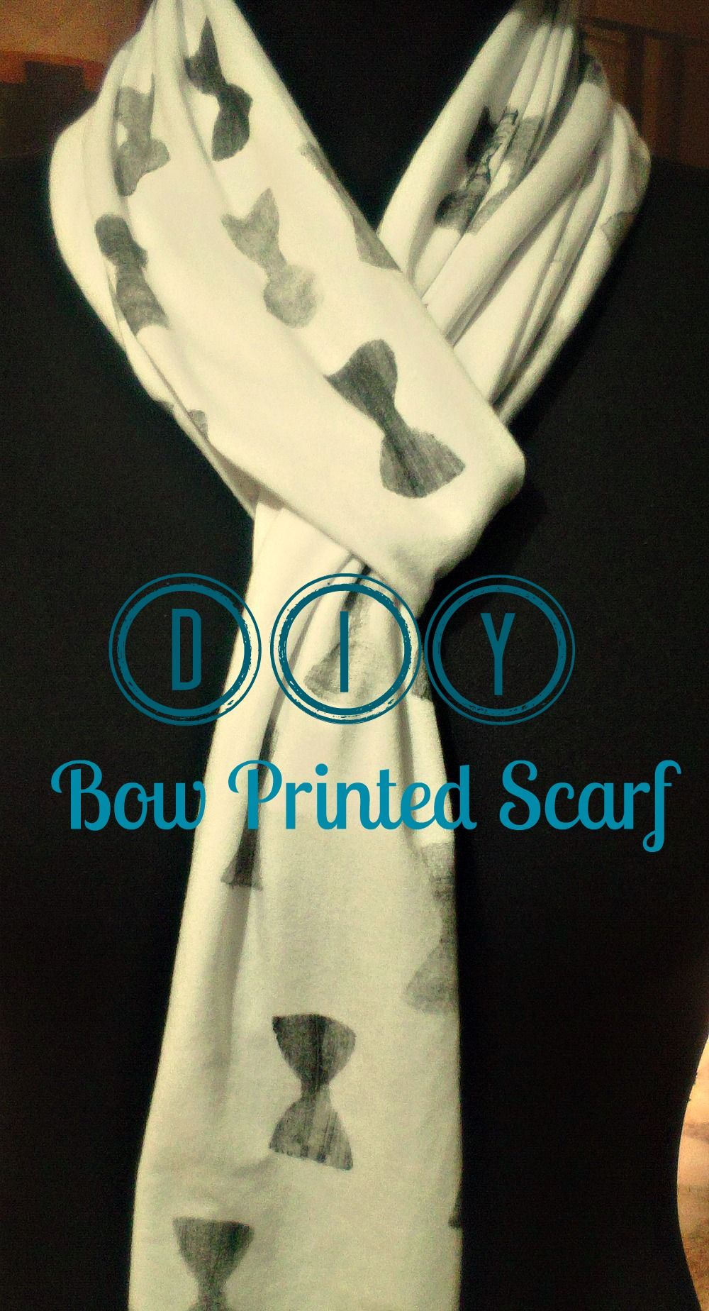 Easy DIY on making your own bow printed scarf! ( Includes template with lots of other shapes)