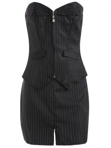 striped lace up threepiece corset  sammy dress corsets