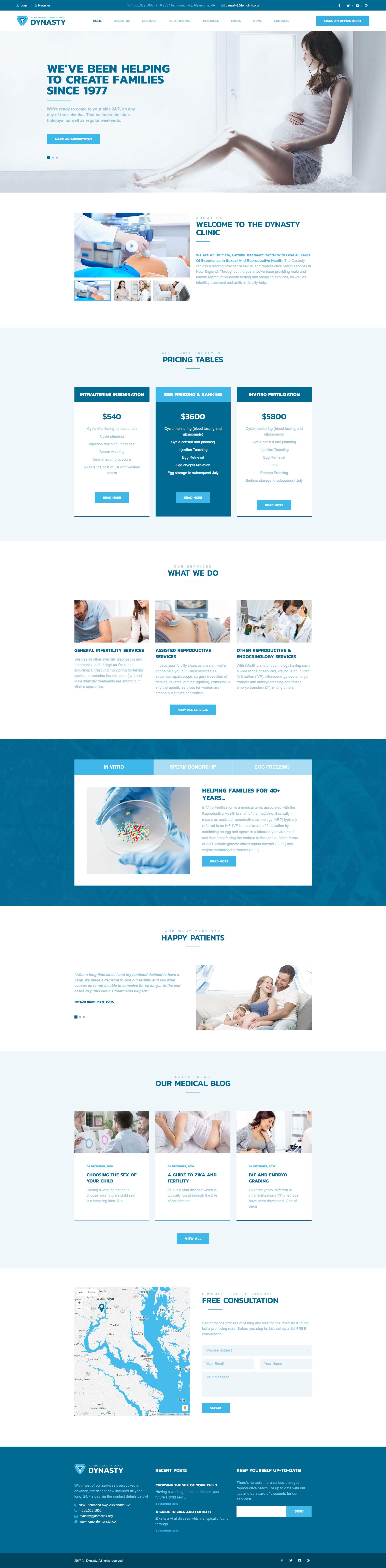 Dynasty - Reproduction Clinic Responsive WordPress Theme | Pinterest