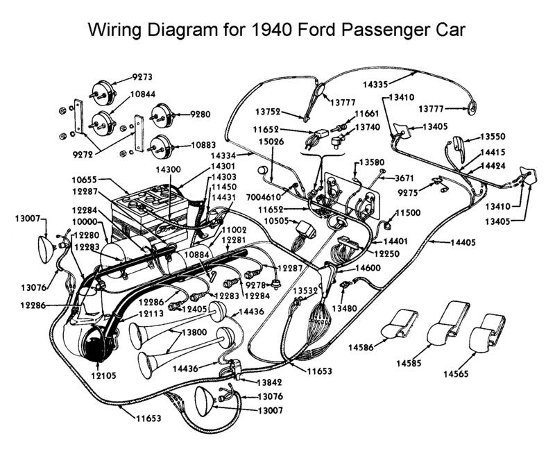 Wiring diagram for 1940 Ford