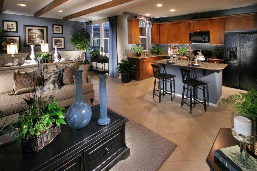 Economical Open Floor Plans Open Floor Plan Combines Kitchen Family And Dinin Open Concept Kitchen Living Room Living Room And Kitchen Design Open Dining Room