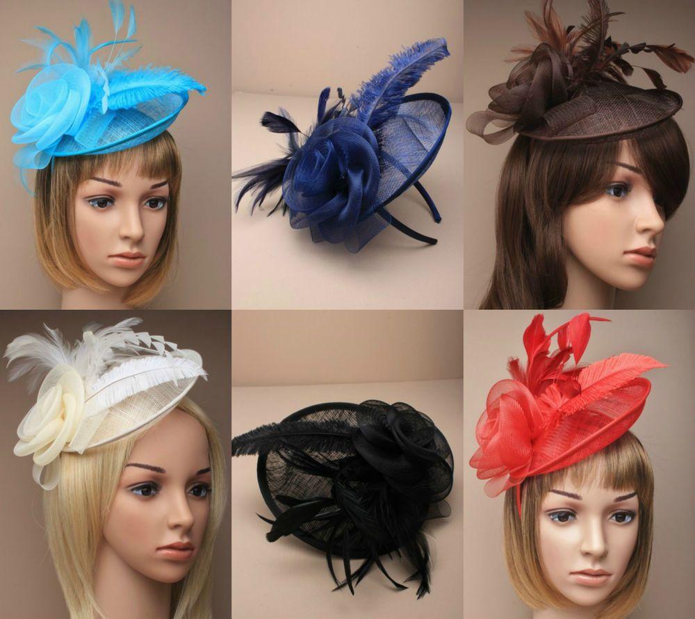 Large Fascinator Headband Aliceband Hat Weddings Ladies Day Races Royal Ascot