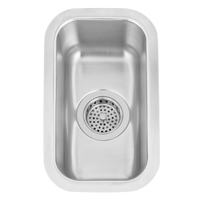 9 Infinite Narrow Stainless Steel Undermount Prep Sink Signature Hardware Prep Sink Stainless Sink Bar Sink