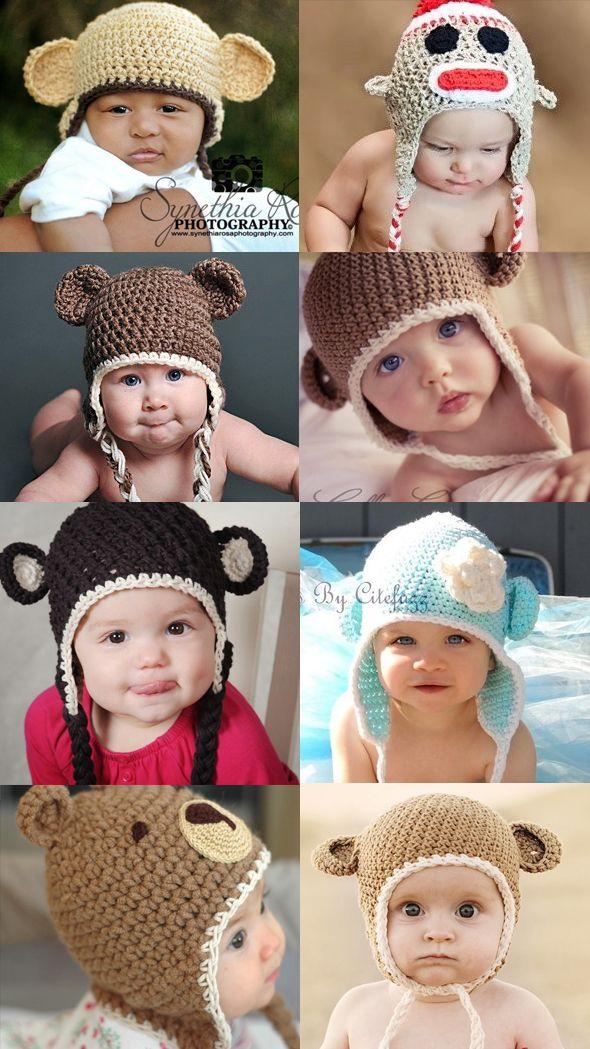 a2dafdba7a82 patron tricot bonnet bébé rigolo   Baby   Loom Knitting, Knitting ...