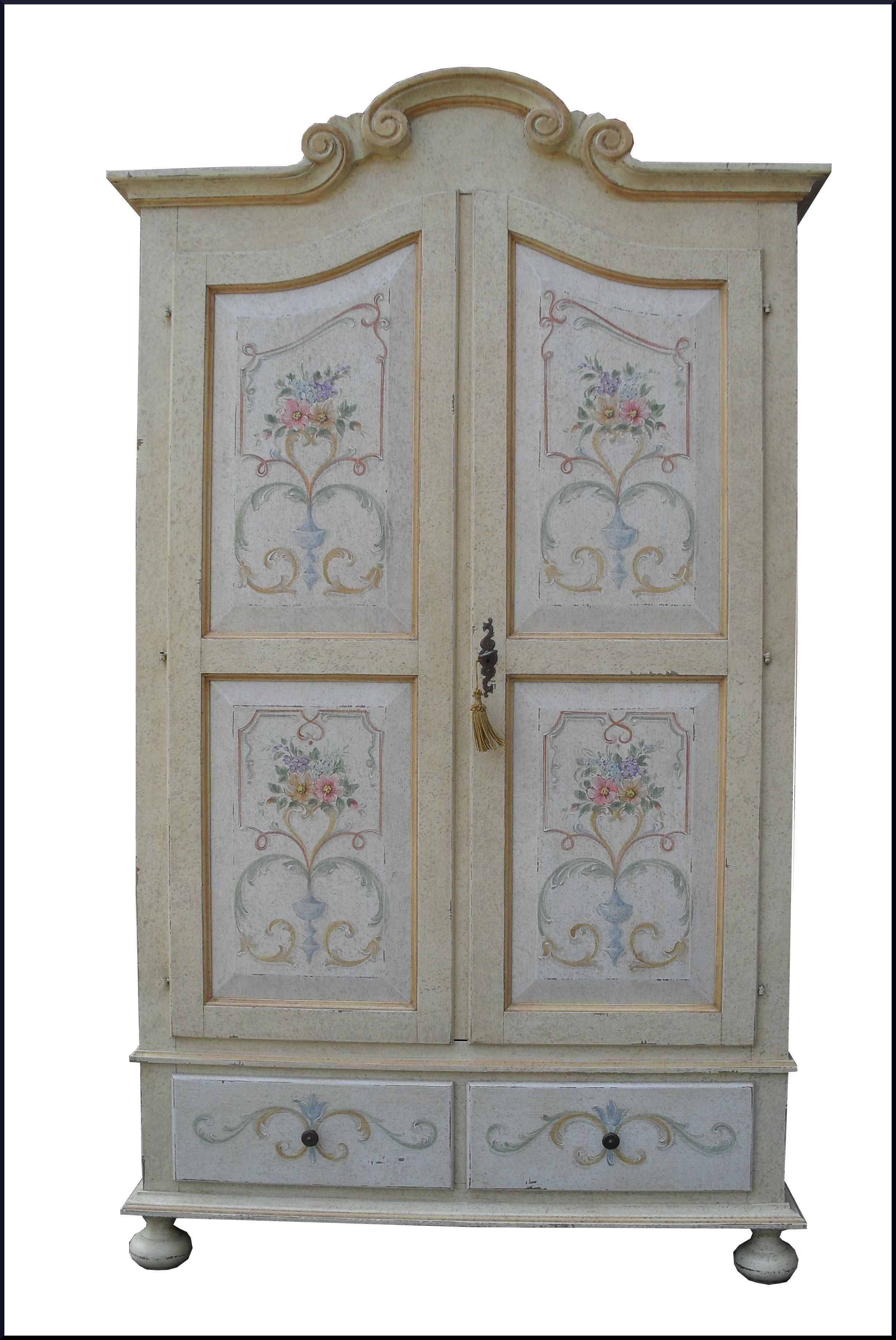 Armadio provenzale dipinto e decorato a mano Decorazioni