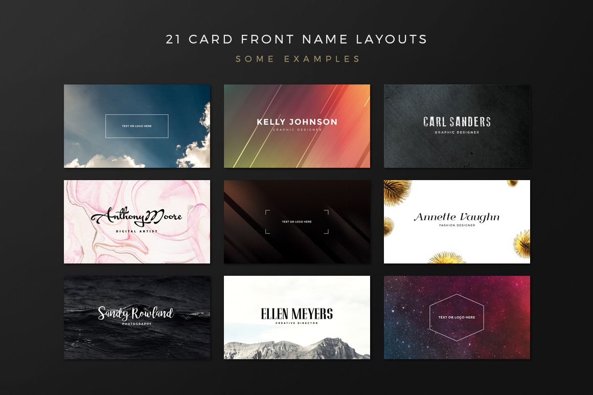 Business Card Creation Kit | Business cards, Business and Awesome ...