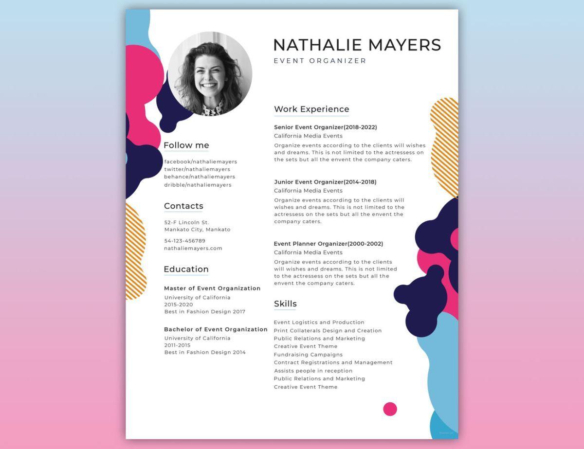 Resume Template Graphic Design Resume Creative Resume Template Free Resume Design