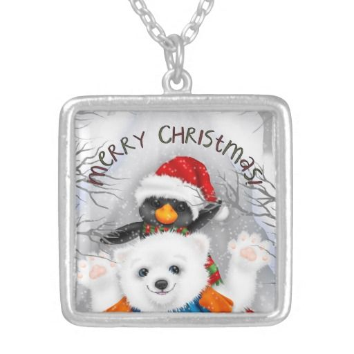 Sentimental Wedding Gift Ideas: Christmas Friends Sterling Silver Plated Necklace