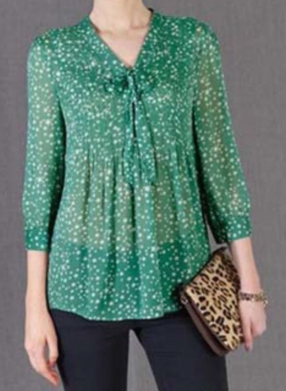 Boden Green Night Sky Star Pleated Top Shirt Blouse US Sz 8 | eBay