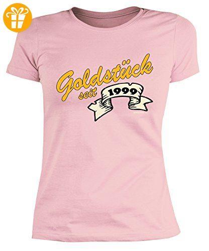 51f26df08967ad 18 Geburtstag Damen Tshirt - Mädchen 18 Jahre T-Shirt : Goldstück seit 1999  -