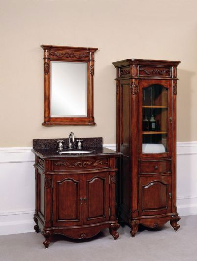 "For Our Downstairs Bath Can't Wait Windsor 24"" Antique Bathroom Fair Cherry Bathroom Vanity Design Ideas"