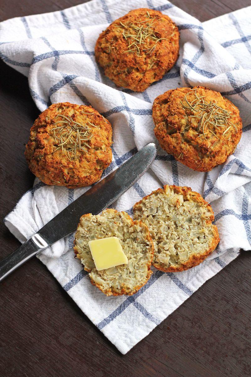 Grain Free Rosemary Cauliflower Biscuits Recipe A Delicious Grain