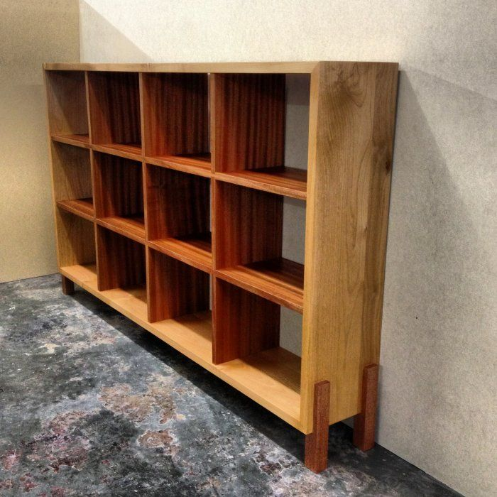 Alder and sapele bookshelf