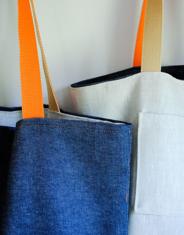 40 minute tote sewing tutorial - Purl Soho