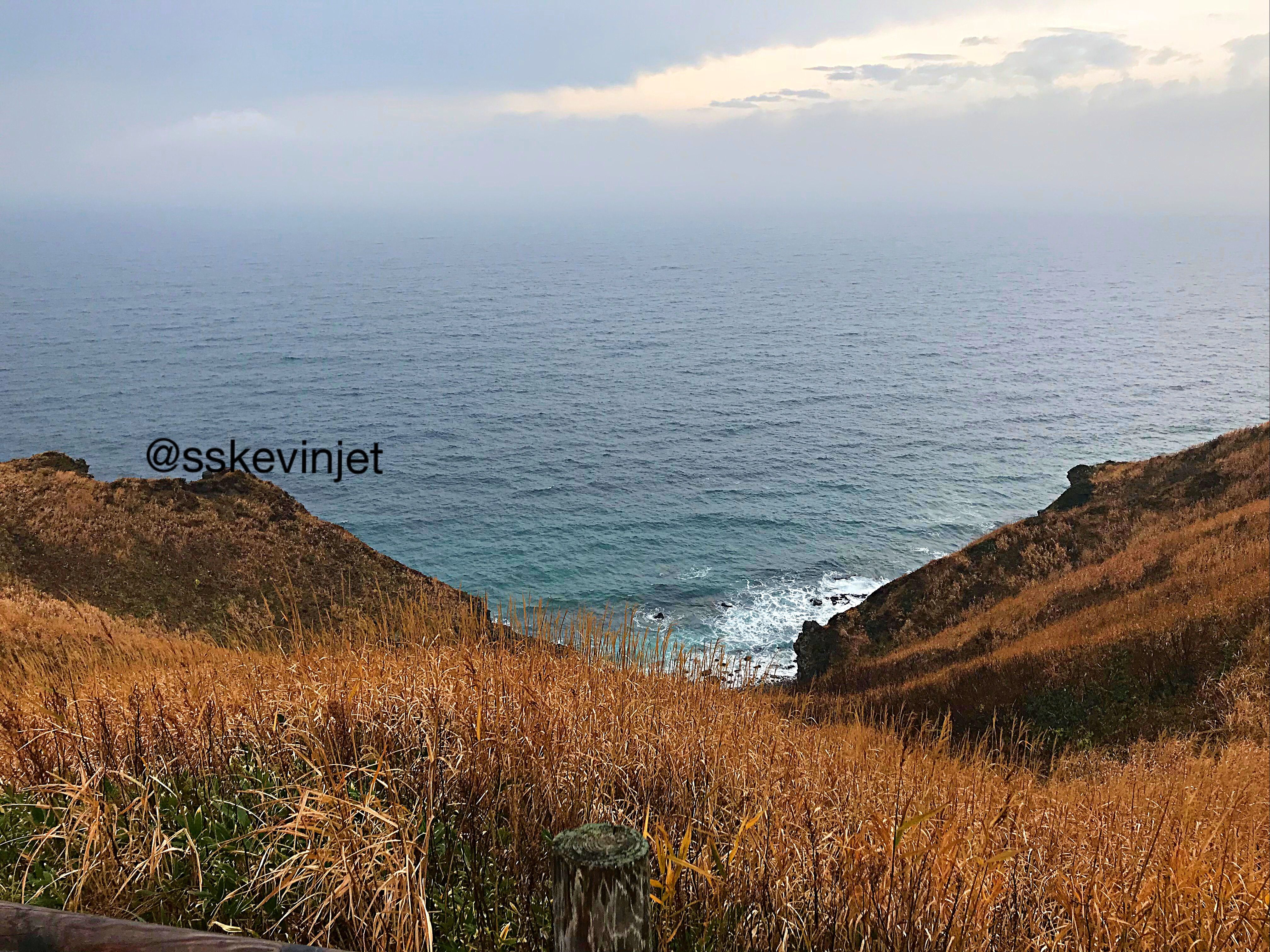 The Autumn Grass Hill And The Sea With Cloudy Sky Travel Travelphotography Landscape Landscapephotography Shotoniphone Shutterstock Grass Sea Cloudy