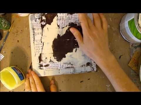 ▶ Mixed Media: Peeled Paint - YouTube