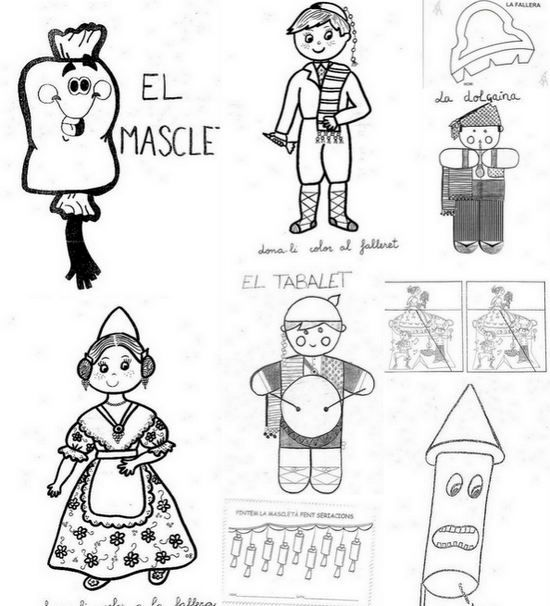 Dibujos De Las Fallas De Valencia Para Pintar Te Falle Pintar Dibujos